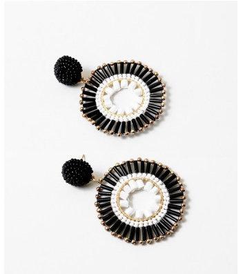 Black &White Drop Earrings