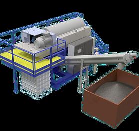 HillerCentrifuge System with Polymer unit shaftless trough conveyor