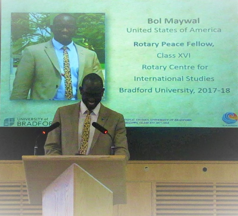 Speaking at University of Bradford