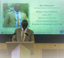 Speaking at University of Bradford