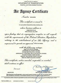 Air Agency Certificated Issued