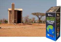 Toilet Twinning - Fabricated Donation Box
