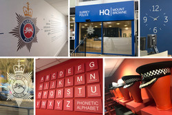 Surrey Police - Headquarters Displays and Signage