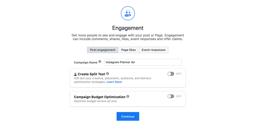 Naming your Instagram ad campaign