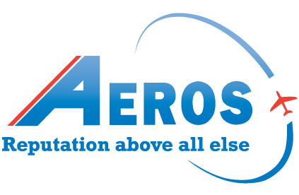Aeros Blue and Red Logo