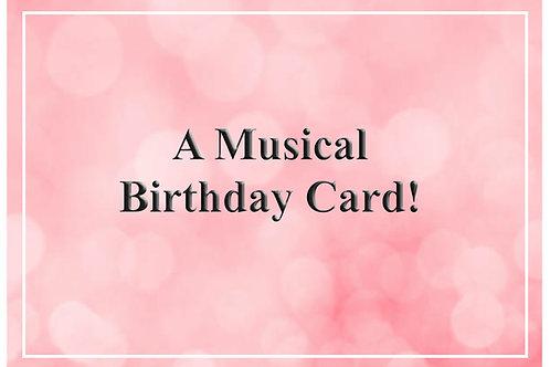 A Musical Birthday Card