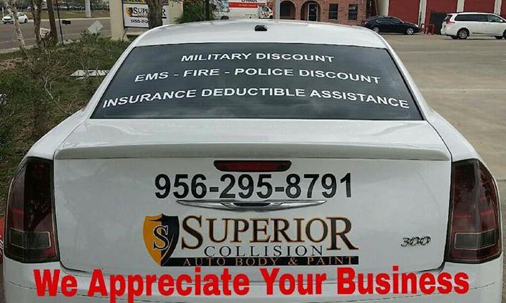 We Appreciate Your Business