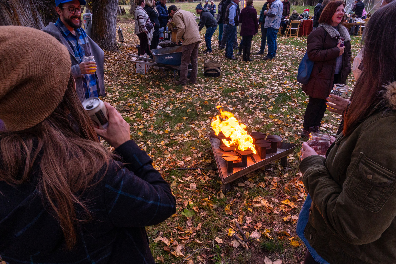 Hexapit at a party in fall