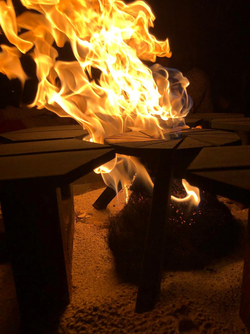 Closeup of Hexapit's flame