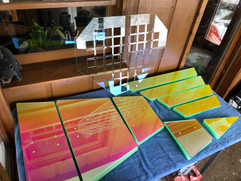 Laser cut dichro panels for Double Diamond