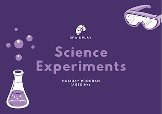 Science Experiments Holiday Program (Mar