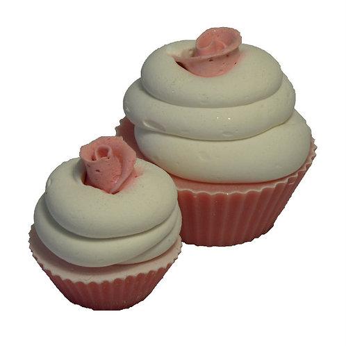 Pink White Pink Cupcake Mini