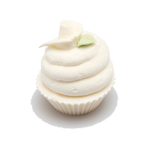 White Cupcake Large