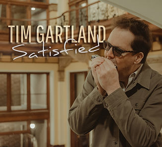 "TIM GARTLAND ""SATISFIED"" ALBUM COVER"