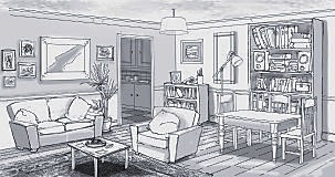 Production Design, Sitting room, animation design