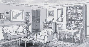 Production Design, Sitting room, animation design