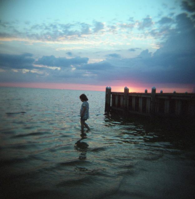 Shea and Sunset, Outer Banks, NC, 2017