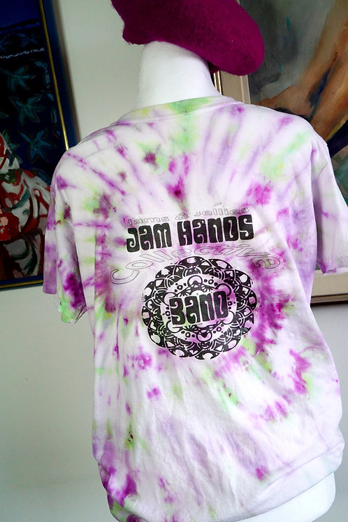 JAM HANDS T-SHIRT - MAGENTA / ACID GREEN