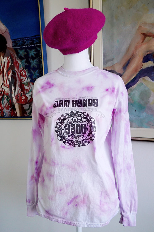SMALL LONG SLEEVED T-SHIRT - PINK MARBLE