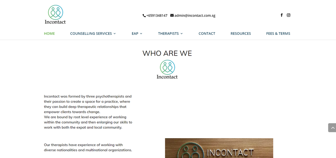 Website Homepage Incontact Counselling
