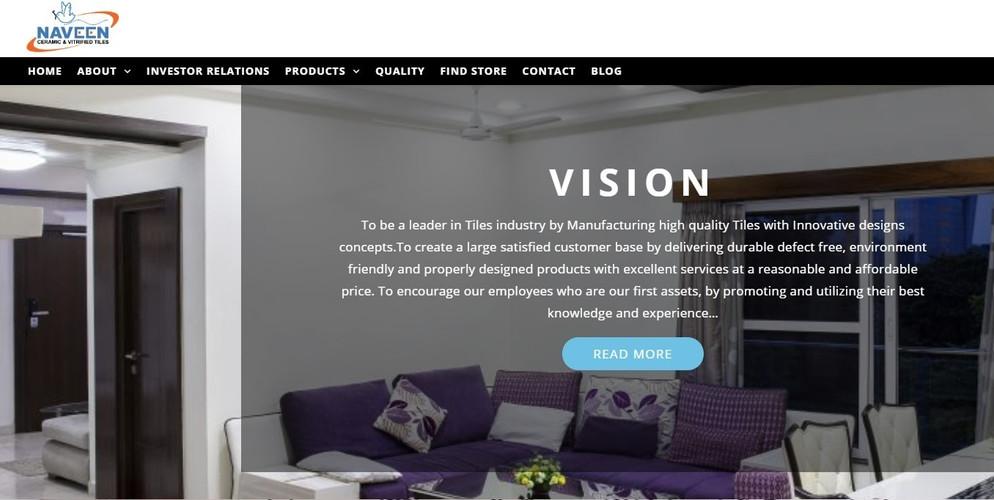Naveen Tile Website