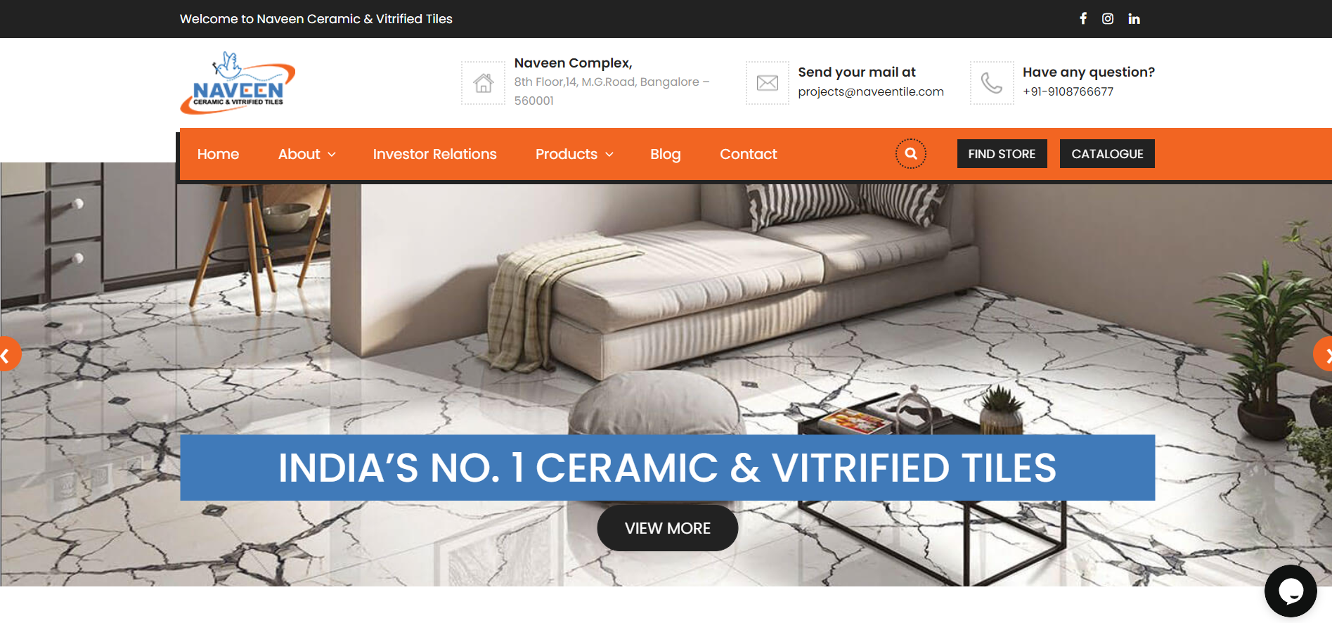 Naveen Tile Website