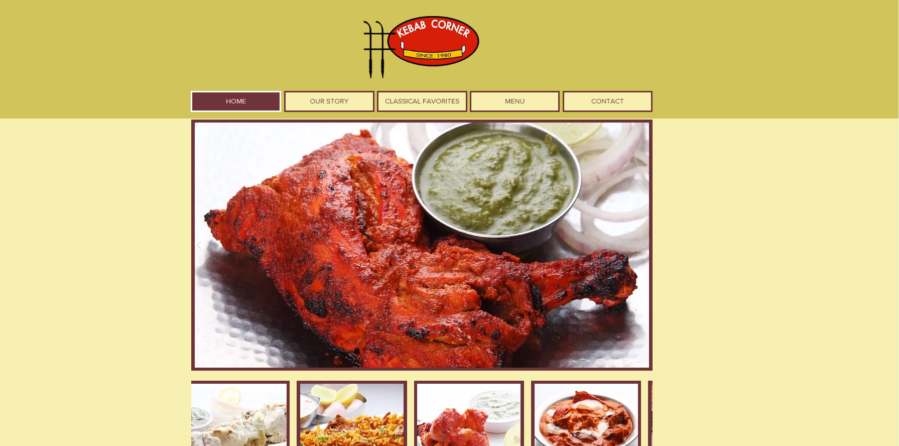 Kebab Corner Website