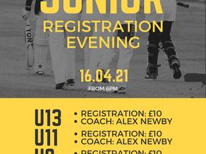 Junior Registration Evening