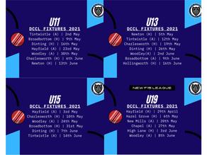 Junior Fixtures Released