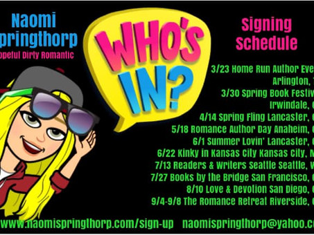 Author Signing's Come Stalk ME!