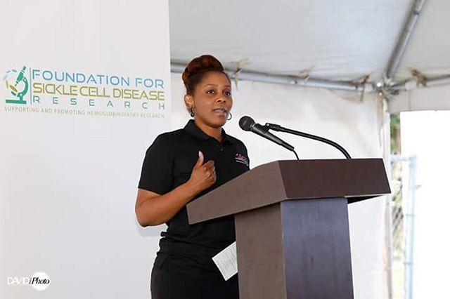 Our President at the Ribbon Cutting Ceremony for the Foundation for Sickle Cell Research