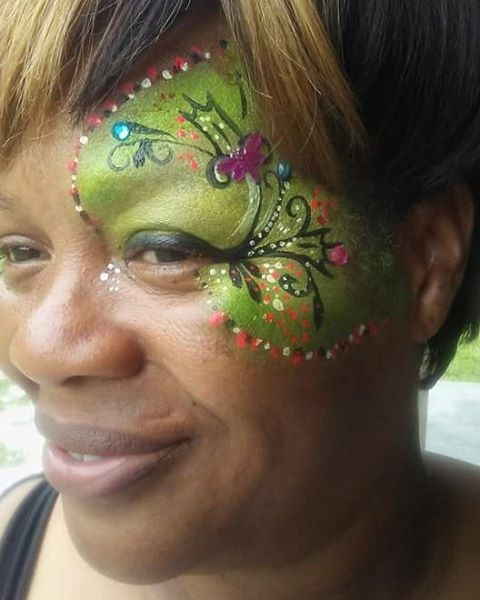 The face painter was so awesome many of the adults got theirs done too