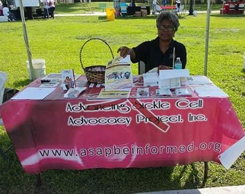 Team A.S.A.P representing at the Overtown Health fair today! Thanks to foundation for sickle cell re