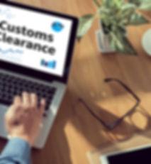 Customs Clearance man hand on table Busi