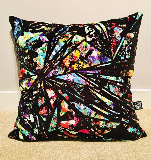 Cotton Velvet Shard Cushion Cover + British Wool Cushion Insert