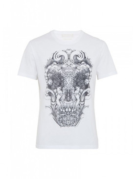 carved wood skull t-shirt