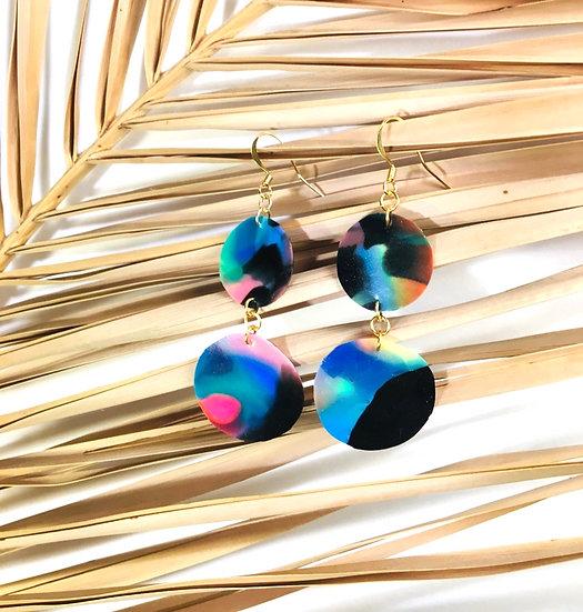 dual sphere earrings