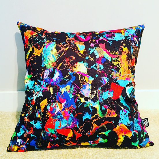 Flame Confetti Cushion Cover + British Wool Cushion Insert