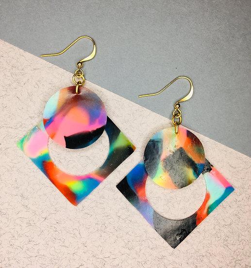 Square/Sphere Earrings