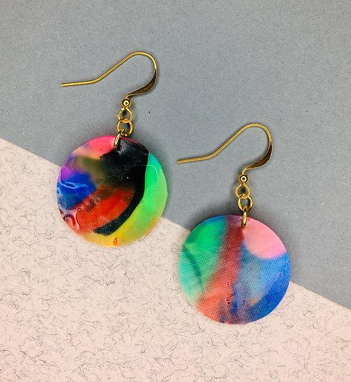 Sphere Earrings - Blue/Green/Pinks
