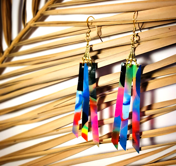 triple strand earrings