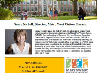 Susan Nicholl, Director of MetroWest Tourism Bureau