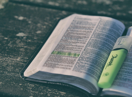 How do you eat a large, family-size Bible?
