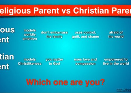 Religious Parent vs Christian Parent