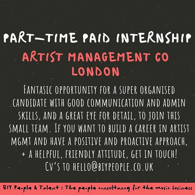 PART-TIME INTERNSHIP ALERT!!