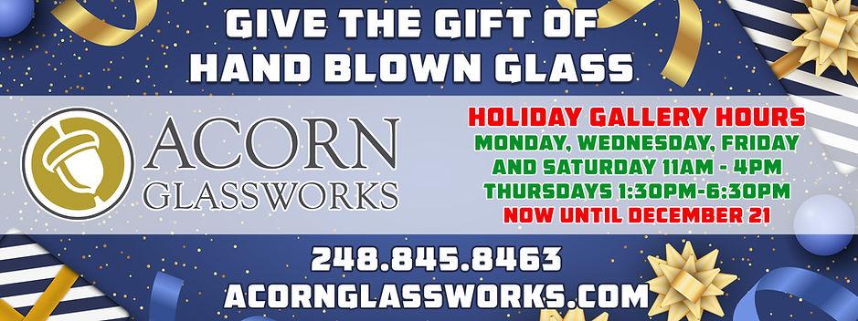 Acorn Glassworks 2020 Holiday Sale copy.