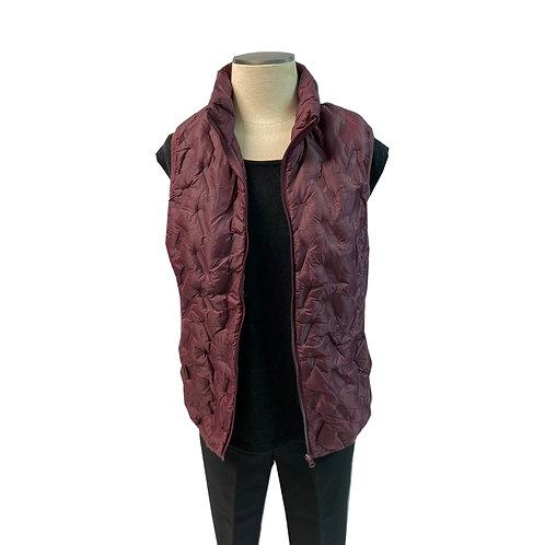 Wine Puffer Vest