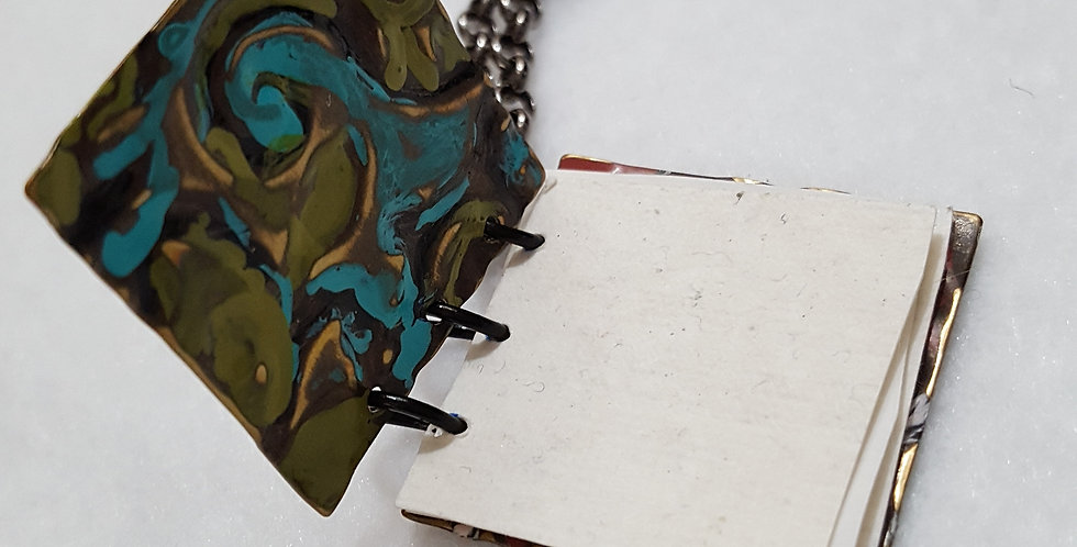 Pure Brass Journal Necklace