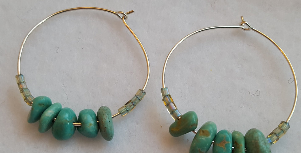 Sterling silver hoops earrings