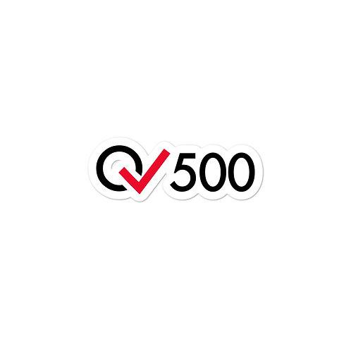500 Rides Milestone stickers